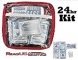 Readi USA 24hr Survival Essentials Pack – Food, Water & Emergency Blanket – Car, Truck, RV or OTV