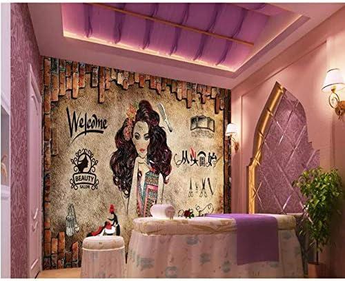 Hyf Wallpaper Personality 3d Wallpaper Beauty Salon Salon Hair Salon Background Wall Barber Shop 3d Wallpaper 430300cm Amazon Com