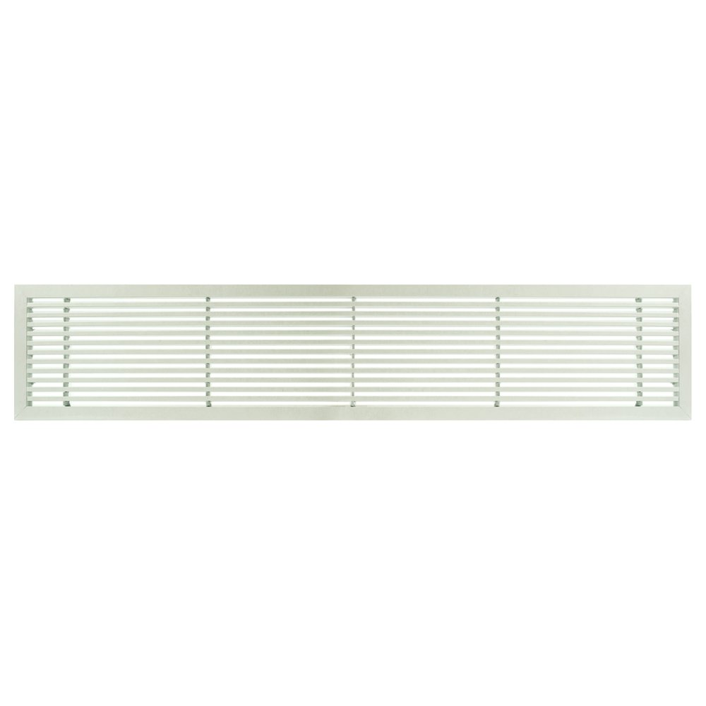 Architectural Grille 200063002 AG20 Series 6'' x 30'' Solid Aluminum Fixed Bar Supply/Return Air Vent Grille, White-Matte
