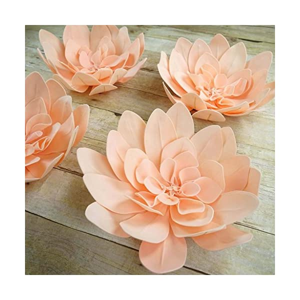 Efavormart 2 Pack 20″ Blush Real Feel Foam Daisy Flowers for Walls Backdrops Centerpieces Arrangements Party Home Decoration