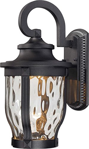 Minka Lavery Outdoor Wall Light 8762-66-L Merrimack Cast Aluminum Exterior LED Wall Lantern, Black