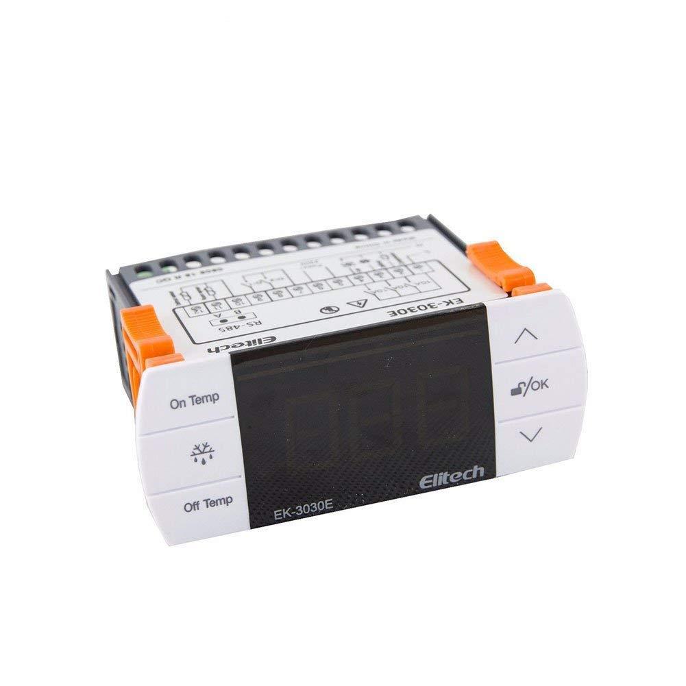 Elitech EK-3030E Thermostat de contrô leur de tempé rature avec capteur pour le Royaume-Uni et l'Europe 220V