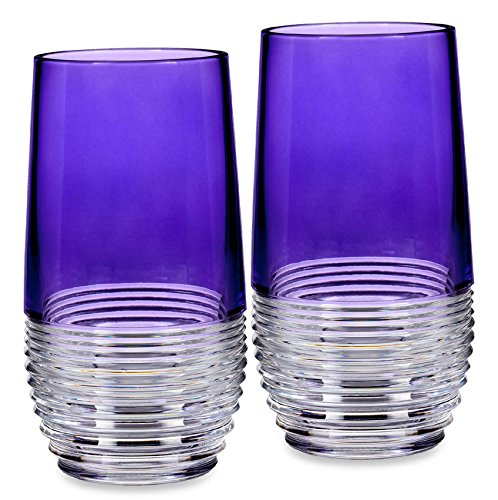 Waterford Mixology Circon Purple Hiball, Pair by Waterford