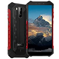 4G Rugged Phones Unlocked, Ulefone Armor X5 Pro (2020) 4GB + 64GB IP68 Rugged Smartphones, Android 10 Octa-core, 13MP+2MP Dual Rear Camera 5.5″ HD+ Screen 5000mAh NFC, Face ID, GPS, WiFi -Red