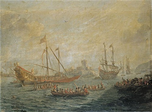 ['Eyck Gaspar Van Marina 1649 ' Oil Painting, 12 X 16 Inch / 30 X 41 Cm ,printed On Perfect Effect Canvas ,this High Definition Art Decorative Prints On Canvas Is Perfectly Suitalbe For Bedroom Decor And Home Artwork And] (Football Yard Marker Costume)
