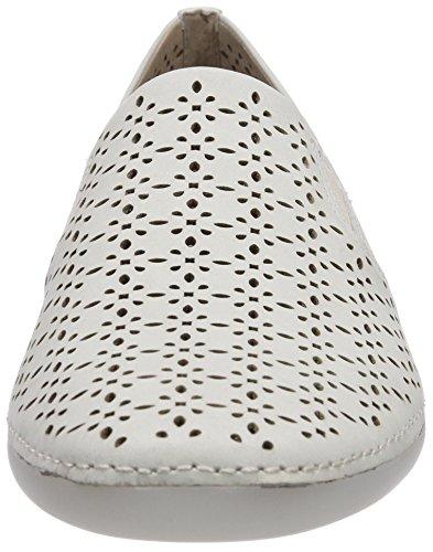 Ecco Thompson - Zapatillas de casa de cuero mujer blanco - Weiß (ShadowWhite Emotion01152)