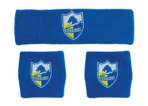 San Diego Chargers Rocks - NFL San Diego Chargers Wristbands & Headband Set, Blue, One Size