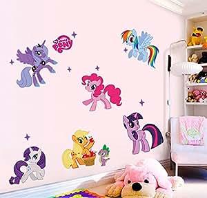 Llegada de un nuevo ni o pegatinas pared my little pony 6 for Pegatinas habitacion nino