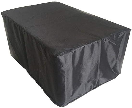 Barture Fundas para Muebles De Jardín Tela De Oxford Impermeable Funda Protectora Cubierta De Mesa Y Silla, Negro (Size : 270×180×89CM): Amazon.es: Hogar