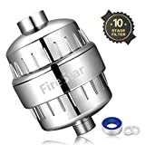 10-Stage Shower Filter with Removable Cartridge Chrome Finish - Removes Chlorine and Harmful Substances - For Any Shower Head and Handheld Shower FireStar