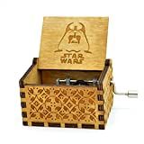 Star Wars Music Box- 18 Note Mechanism Antique Carved Wooden Music Box Crafts Melody Castle in Hand(Star Wars)