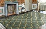 """Ottomanson Royal Collection Contemporary Moroccan Trellis Design Area Rug, 7'10"""" X 9'10"""", Seafoam"""