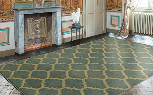 Ottomanson Royal Collection Contemporary Moroccan Trellis Design Area Rug, 7'10