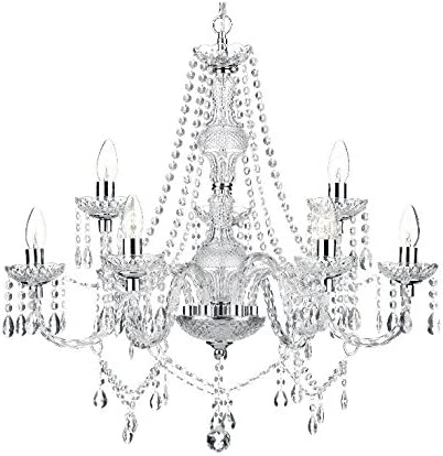 Saint Mossi Modern Contemporary Elegant Crystal Glass Chandelier Pendant Ceiling Lighting Fixture
