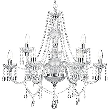 Saint Mossi Modern Contemporary Elegant Crystal Glass Chandelier