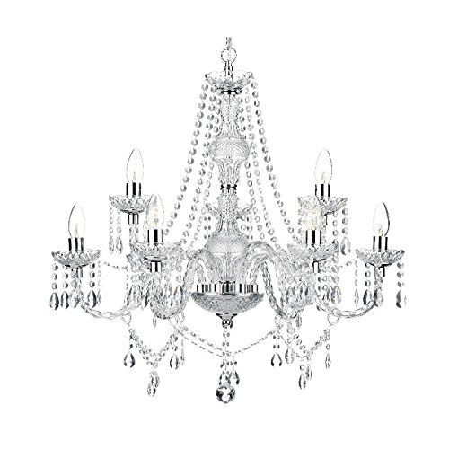Saint Mossi Modern Contemporary Elegant Crystal Glass Chandelier Pendant Ceiling Lighting Fixture - 9 Lights (And Chandeliers Pendants)
