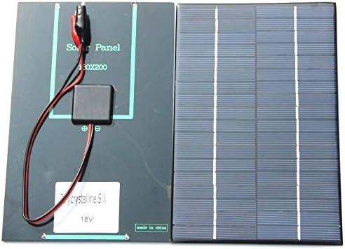Andifany 4,2 W 18 V Solarzelle Polykristalline Solarpanel Krokodilklemme Fuer Die Aufladung 12 V Batterie 200x130x3 MM