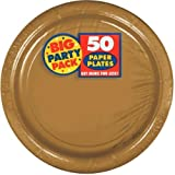 Amscan Gold Big Party Pack Dinner Plates (100 Count)
