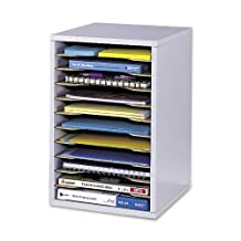 Safco Products Vertical Desk Top Sorter - 11 Compartment, Gray (9419GR)