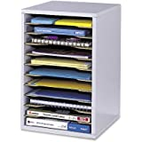 Safco Products 9419GR Vertical Desk Top Sorter, 11 Compartment, Gray