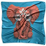 Baby Elephant Glasses Hong Kong Flag Women's Square Scarf Headdress Fashion Neckerchief
