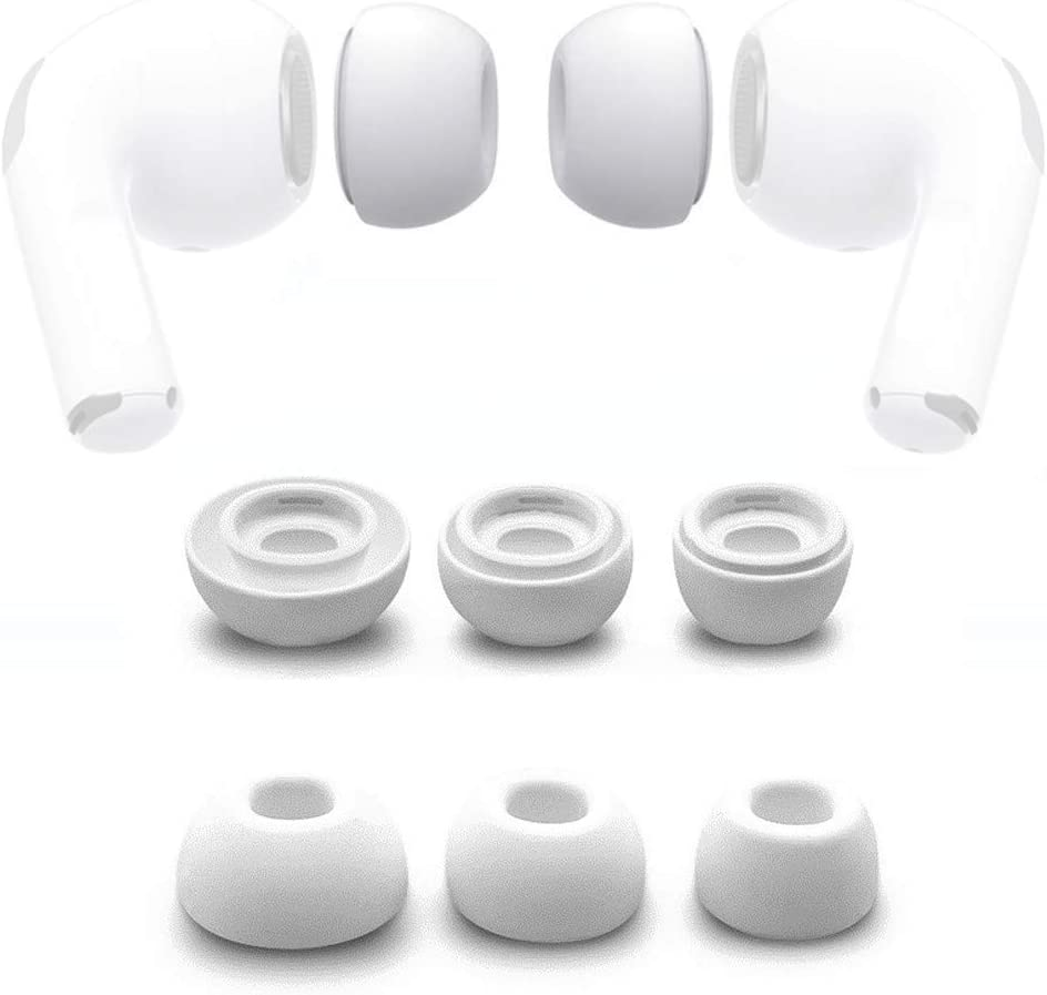 HSKB Replacement Silicone Earbuds Rubber Earbuds for Headphones Earbuds Compatible with AirPods Pro 2019 Earplugs Prevents Falling Out Soft Silicone