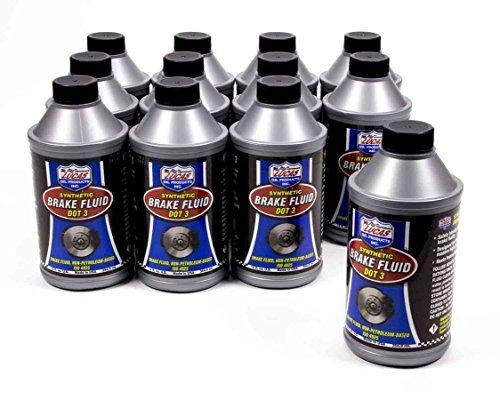 Dot Lucas - Lucas Oil 10825-12 DOT 3 Brake Fluid, 12 oz, Case of 12