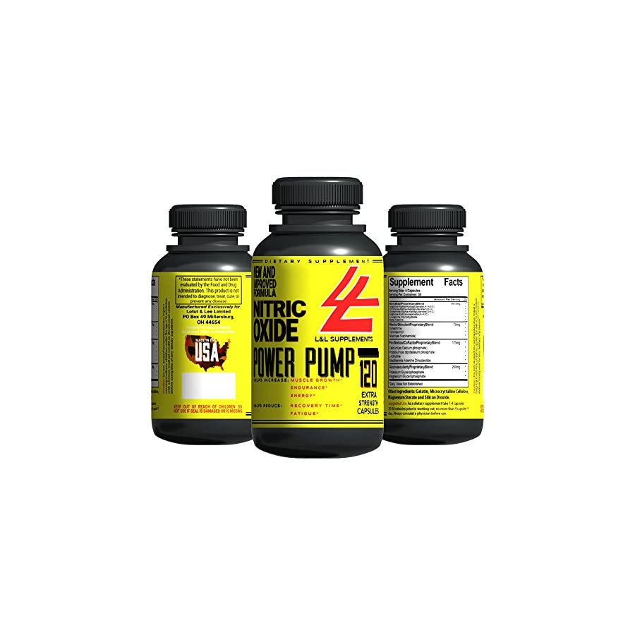 Elite Nitric Oxide AND L Arginine Supplement 120 Capsules to Increase Performance, Gain Lean, Hard Muscle & Boost Endurance Top Pre Workout Booster GUARANTEES Best Results Market Wide!