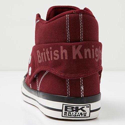 British Knights Herren ROCO Hohe Sneaker, Marineblau, 40 EU Weinrot
