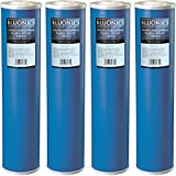 Big Blue Carbon Replacement Water Filters 4pcs GAC Granulated 4.5'' x 20'' Cartridges for Chlorine, Taste and Odor