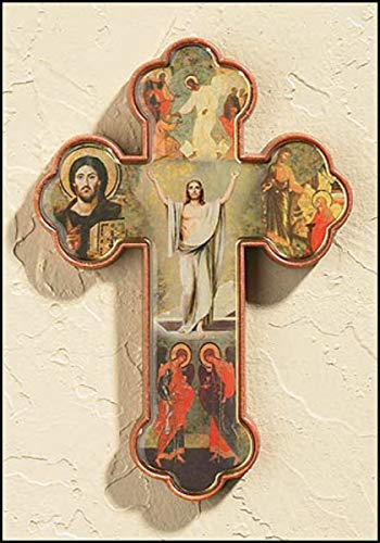 Religious Risen Christ Acrylic Wall Cross, 4 1/2 Inch, Pack of 12