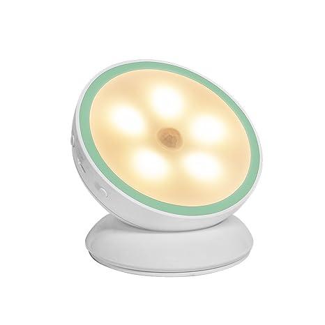 Lámpara Nocturna LED,MeihuaTu Sensor de Movimiento Luz de Noche LED Luz Cálida Luz de