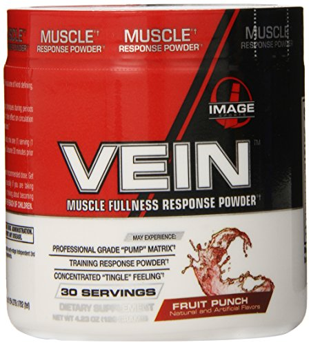 Image Sports Vein Muscle Response Pre-Workout Powder, Fruit Punch, 4.23-Ounce