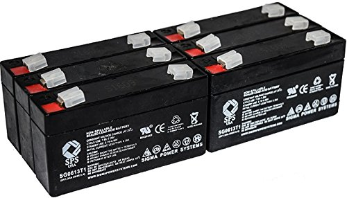 (SPS Brand 6V 1.3Ah Replacement Battery for Quantum Bantam (6 Pack))