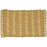 Jute Co & Natural Coconut Fibre Doormat, Natural and Jute, Woven, 45 x 75 cm, Beige by Jute
