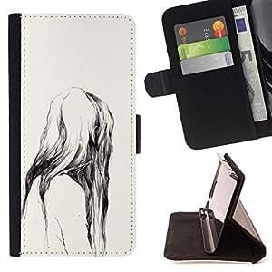 WATERCOLOR NATURE TEETH MONKEY APE/ Personalizada del estilo del dise???¡Ào de la PU Caso de encargo del cuero del tir????n del soporte d - Cao - For Samsung Galaxy Note 4 IV