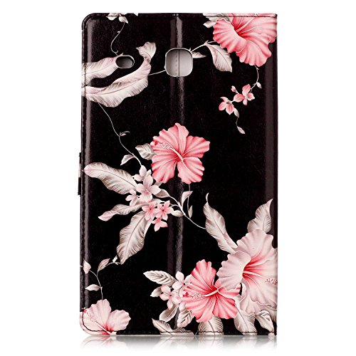 Galaxy T377v/T377a Case,Tab E 8.0'' Case,UUcovers Ultra Slim [Fancy Pattern] PU Leather Flip Stand Case Protective Cover for Galaxy Tab E 8.0 Inch SM-T375/T377a/v/p Tablet-Pink Flower by UUcovers (Image #7)