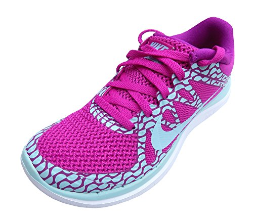 Nike Dames Gratis 4.0 V4 Hardloopschoenen Fuchsia / Blauw / Wit