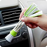 Mini Duster for Car Air Vent, 1PC Window Blind Brush Dust Cleaner Keyboard Dust Collector Window Shades Blinds Jalousie Shutter Cleaners (White)