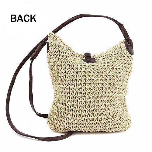 Beach Women's White Bag Straw Weave Handbags Crossbody Summer Bag Purse Shoulder OABOwUxgq