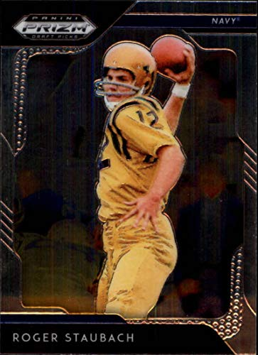 - 2019 Prizm Draft Picks Football #80 Roger Staubach Navy Midshipmen Official NCAA Trading Card From Panini