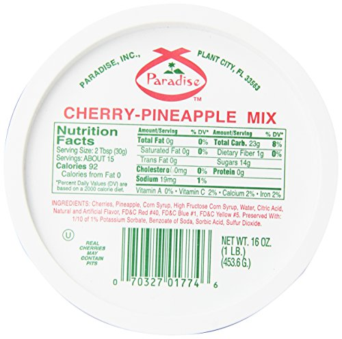 Paradise Mix Whole, Cherry-Pineapple, 16 Ounce