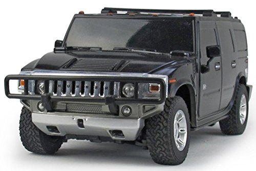Sunshine Remote Controlled H2 Hummer 1:24, Rechargeable Batteries, Charger, Black