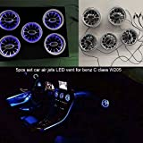 special auto accessories LED Car air Jets Vent for C Class(W205) C220,C300,C43 AMG 2015-2019year (LED air Jets Vent, 3 Colors)