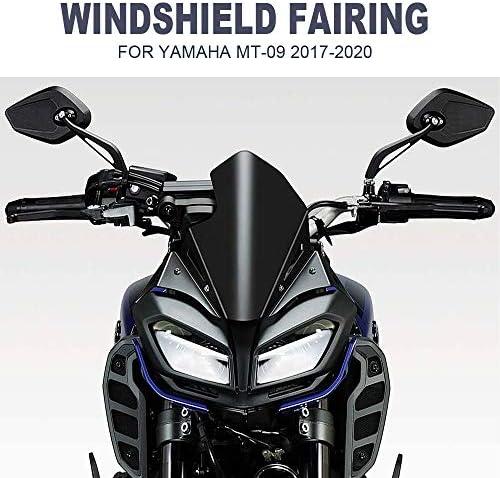 Sxgky 2017 2018 2019 2020 Vordere Windschutzscheibe Gepasst Fit For Yamaha Mt09 Mt09 Motorrad Zubehör Windschutzscheibe Airflow Windabweiser Motorradzubehör Ffff Küche Haushalt