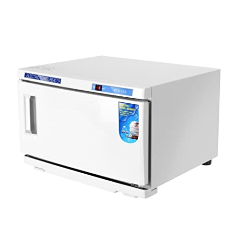 2 EN 1 Armario Esterilizador de Toallas Esterilizador UV Caliente Peluquería SPA de Belleza Caja de