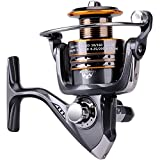 PLUSINNO HongYing Series Fishing Reels Spinning Freshwater Saltwater with 5.2:1 Gear Ratio Metal Body Left/right Interchangeable Collapsible Handle Spinning Fishing Reel(Fishing Reel)