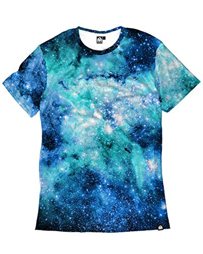 Sleeve Soccer Tee Graphic Short (INTO THE AM Nebula Skies Men's Casual Tee Shirt (X-Large))