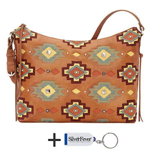 American West Leather Hobo - Zip-Top Shoulder Bag (Adobe Allure Golden Tan)