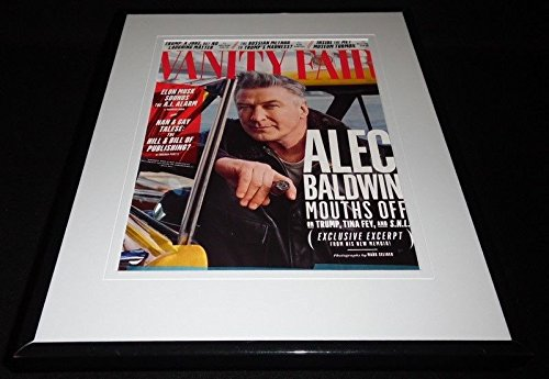 Baldwin Vanity (Alec Baldwin Framed 11x14 ORIGINAL 2017 Vanity Fair Magazine Cover)